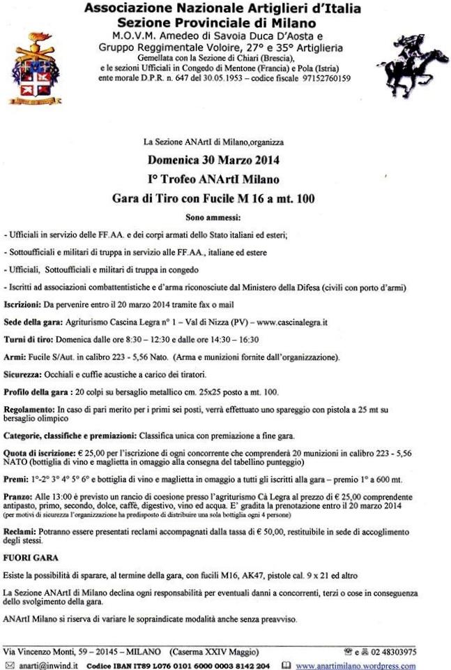 2014 01 31 Primo TROFEO ANARTI Tiro con fucile M16