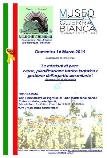 2014 03 16 conferenza forte colico Missioni di Pace