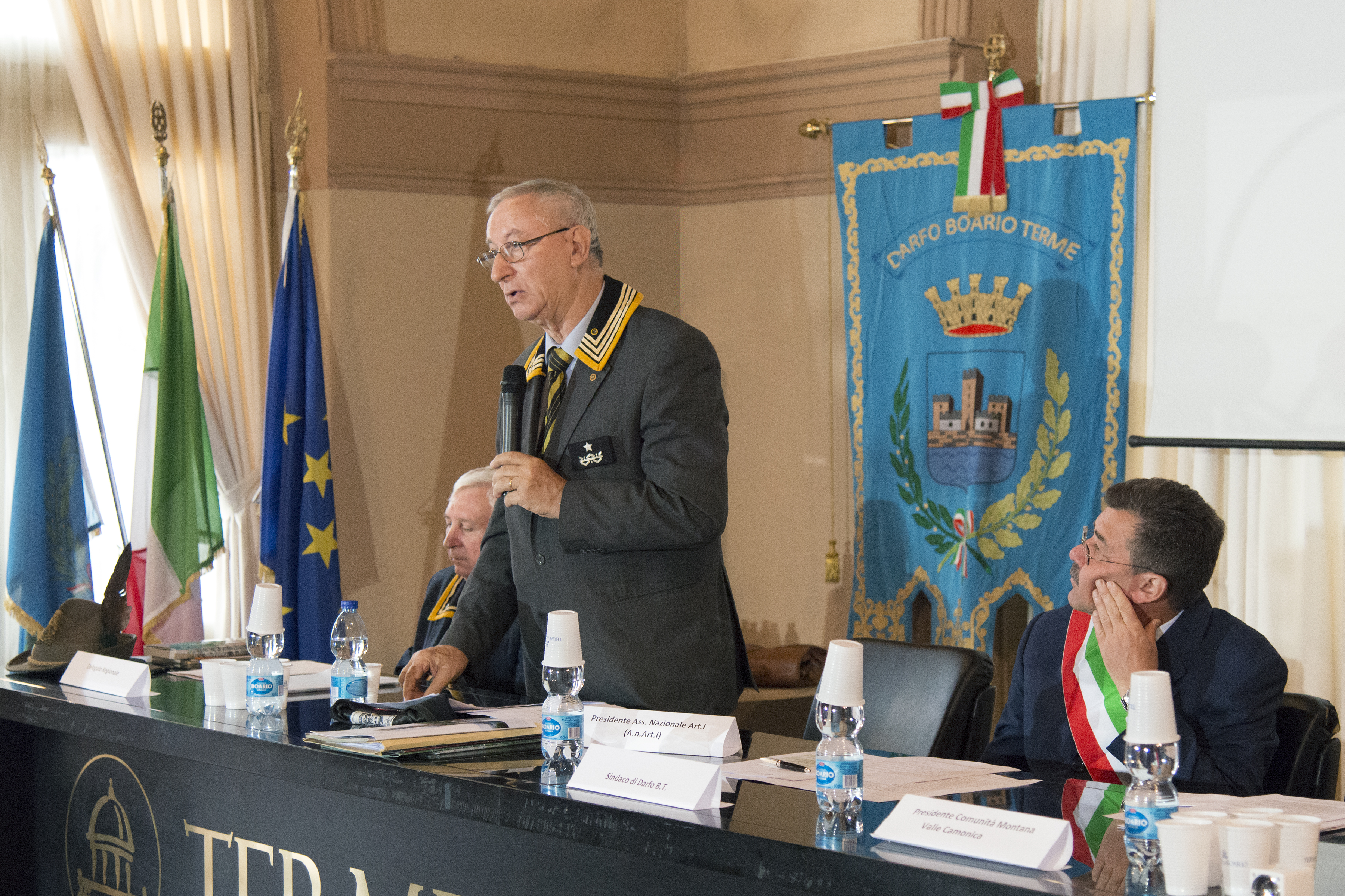 Il Presidente Nazionale Rocco Viglietta e il Sindaco di Darfo Boario Ezio Mondini (Foto M. Bossi)